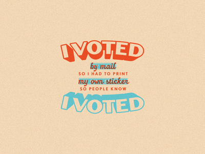 I VOTED! sticker voted type lettering branding design flat illustration graphic design branding design