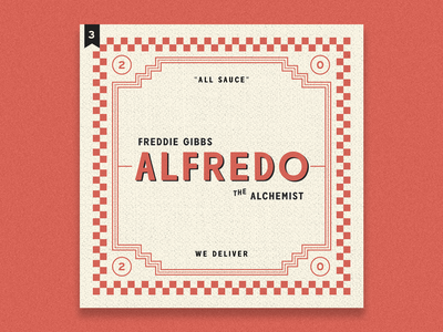 no.3: Alfredo freddie gibbs alfredocreates album art album minimal typography branding design flat illustration graphic design branding design