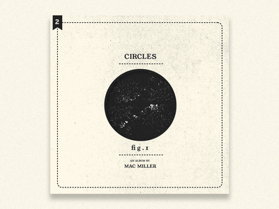 no.2: Circles mac miller circles album art album minimal typography branding design flat illustration graphic design branding design