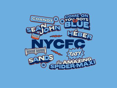 City 'til I die! futbol nyc blue sticker mls new york city football club nycfc soccer illustrator typography illustration graphic design branding design