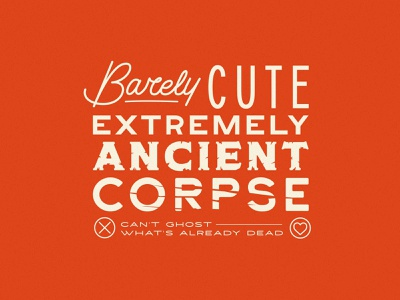Barely Cute Extremely Ancient Corpse spooky halloween dead tinder ghost illustrator flat illustration graphic design branding design