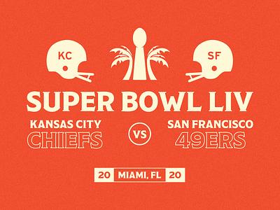 Super Bowl LIV shadow kansas city san francisco chiefs 49ers superbowl nfl lettering typography logo illustrator graphic design branding design flat branding design