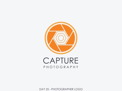 Logo Design | Capture shutter dual meaning dualmeaning photograhy photograph orange logo orange photographer photography logo photography branding daily trend logo illustration dailylogochallenge adobe illustrator designs adobe design