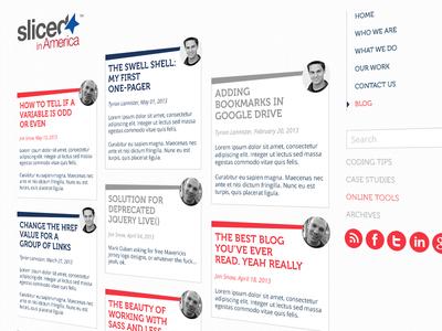 Sliced in America Blog layout ux clean blog ui web design