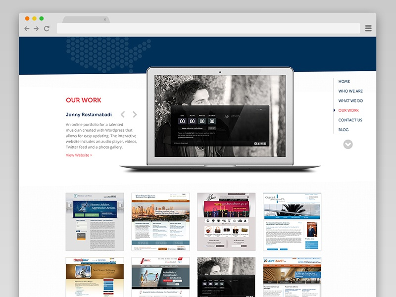Sliced in America: Our Work web design ui