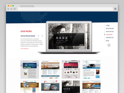 Sliced in America: Our Work web design ui