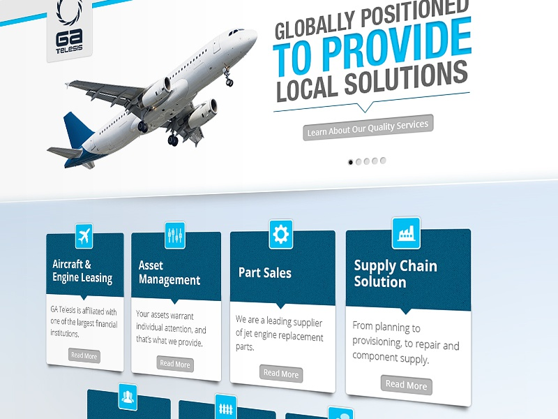 Aircraft Parts Manufacturer web design