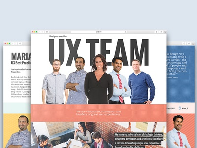 Team About Page web design team member bio team site
