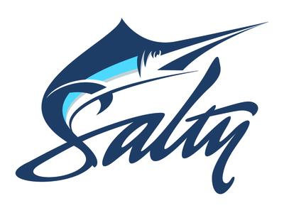 Salty Logo boating fishing salty illustrator illustration lettering logo