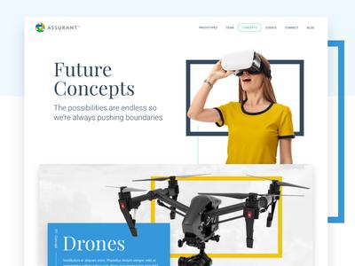 Future Concepts web design design web ux ui shapes geometric clean innovation team