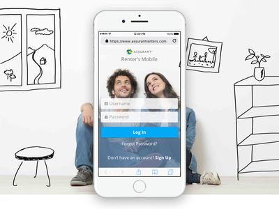 Mobile Web App clean illustration web design design web ux ui app web app mobile
