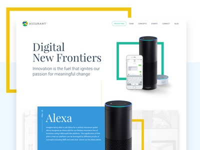 Home Page - Innovation Team home page team landing page clean geometric shapes innovation ui ux web design web design