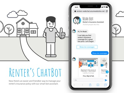 Web Chat - Chatbot artificial intelligence bot web design design ux ui mobile app mobile chatbot illustration chat web chat