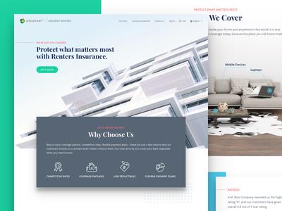 B2C Sales Site geometric clean landing page web design design web ux ui
