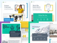 2018 Top 4 Shots top4shots geometric ux design clean web design ui