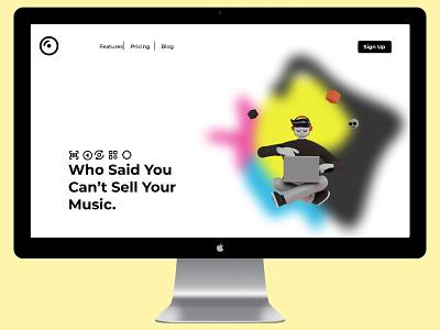 Music Landing Page ui ux design dailyui