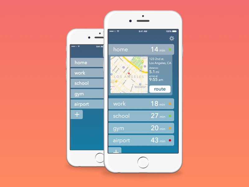 ETA app matt zelazo gradient map sketch3 sketch iphone app ios