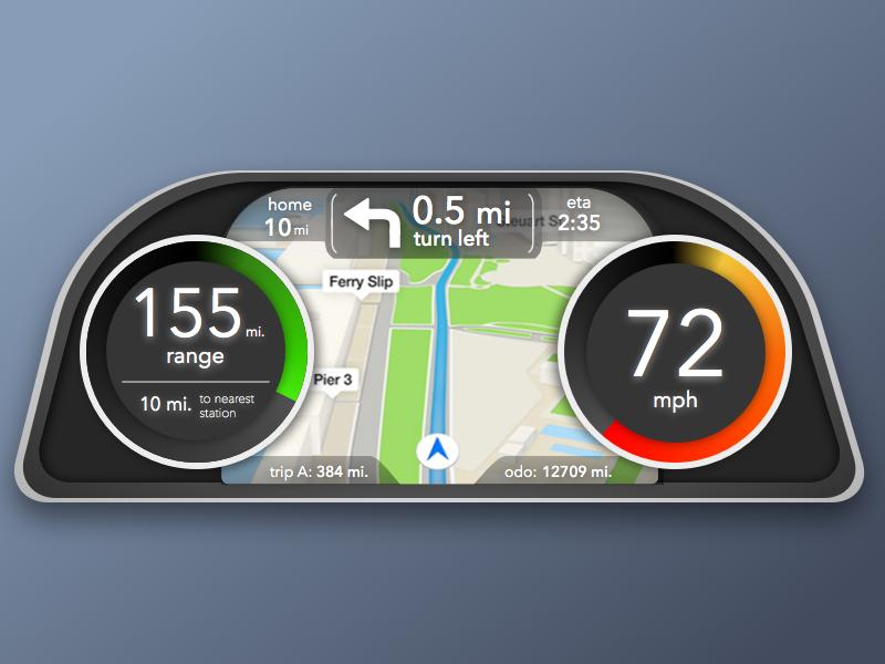 Car Dash UI Concept mattzelazo sketch3 sketch car ui car dash interface concept ui dash car