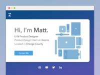 Personal Site Header - WIP