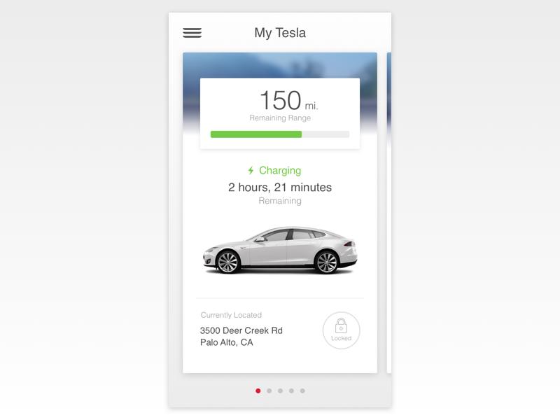 Tesla App Redesign - WIP matt zelazo app interface ui sketch3 cards tesla