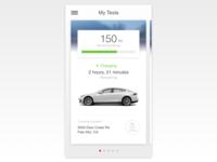 Tesla App Redesign - WIP