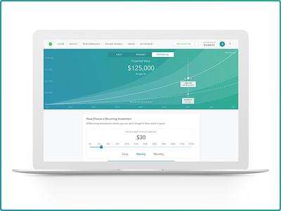 Acorns Web App 2.0 - Potential graph gradient invest web app acorns