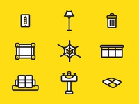 Busy Bee Housecleaning Icon Set
