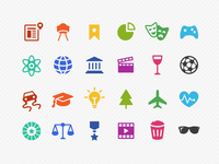 HTC Blinkfeed Category Icons
