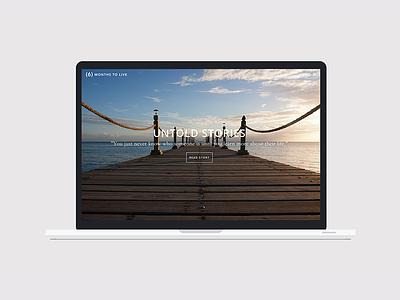 6 Months to Live uiux logo development css html webdesign identity