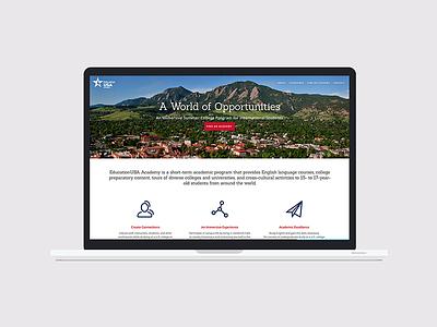 Education USA Academy marketing ux ui css html webdevelopment webdesign design