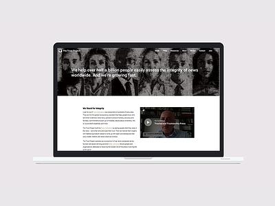 The Trust Project uiux branding css html wordpress webdesign