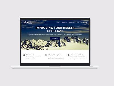 Gemini Laboratories pharmaceuticals design marketing branding website
