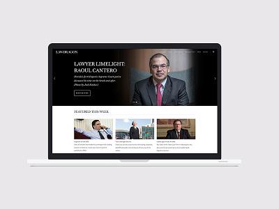 Lawdragon.com website publishing news legal marketing design branding