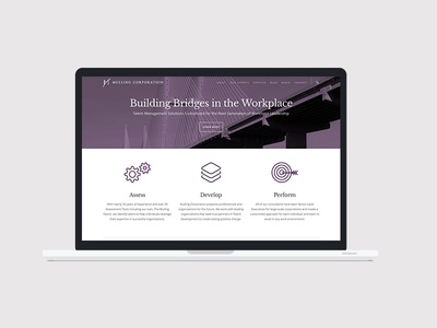Mulling Corporation coaching placement executive website marketing design branding
