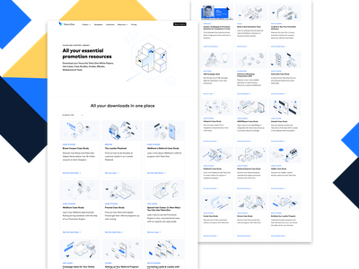 Content Library Page isometry isometric web ux ui branding illustration graphic design design