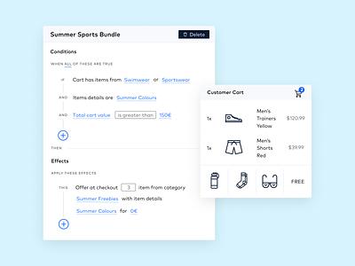 Bundling Feature Mockup - UI web app ux ui design