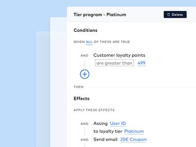 Loyalty Feature Mockup - UI web design app ux ui