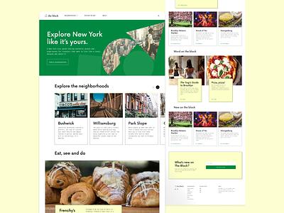 Visual Design City Guide Website - UI app ux ui graphic design design
