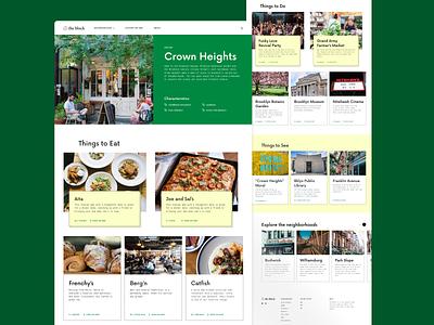 Visual Design City Guide Website - UI