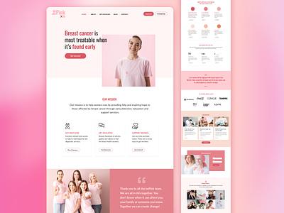 Visual Design breast cancer foundation web branding app ux ui graphic design design