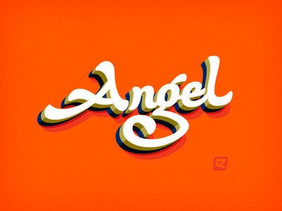 Angel sign painting sign painter script handwriting handlettering calligraphy logotype design lettering typeface design font design typeface type font type design typography