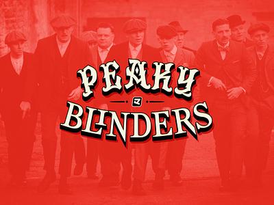 Peaky Blinders brand logo lettering design typeface design logotype type typeface type design font typography