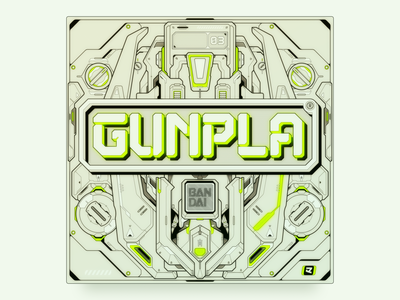 GUNPLA graphic design design vector illustration typeface design font font design typeface type type design typography