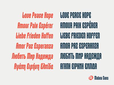 Matea Sans typeface design typeface font design font type design type typography