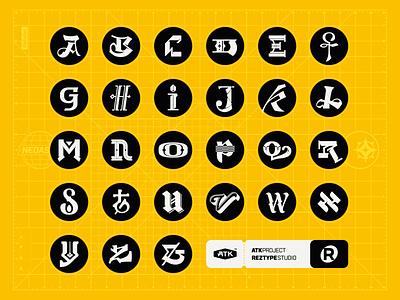 Alphabet photoshop illustrator glyphsapp glyphs lettering letter alphabet logo illustration font design typeface design typeface type design type font typography