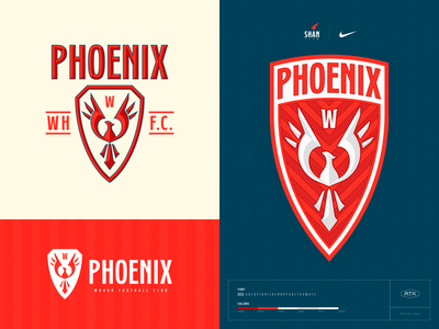 PHOENIX FC soccer football sports branding sports design sports logo sports branding design logo type design typography