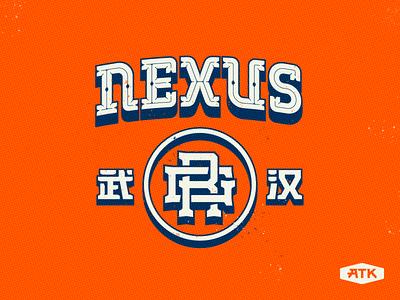 NEXUS logo typeface design typeface font design type design type font typography