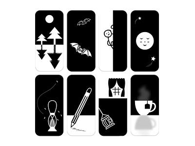 OLED Mobile Wallpapers illustrator art flat  design vector wallpapers oled black and white illustration art