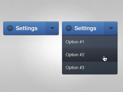 Settings Dropdown dropdown dropdown menu ui settings gear button