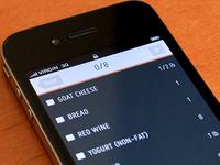 Grocery list app concept